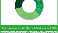 منطقه ۵ تهران، پرطرفدارترین منطقه برای خرید مسکن در دیماه