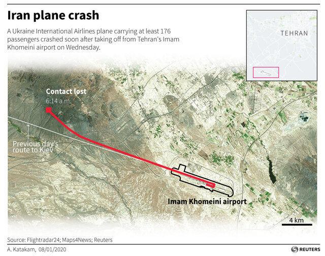 ایران، اوکراین، آمریکا و فرانسه مسئول بررسی دلایل سانحه هستند