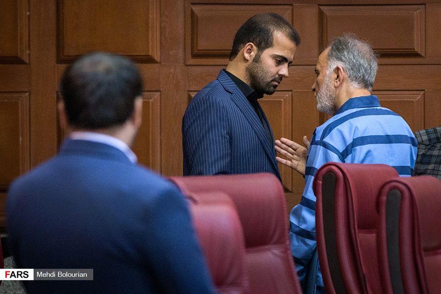 تصاویر جنجالى از تقابل نجفى و برادر میترا در دادگاه