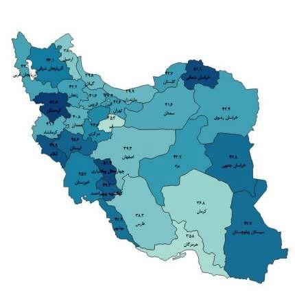تورم نقطه به نقطه ۴۲ درصد شد/ کردستان بیشترین تورم را دارد