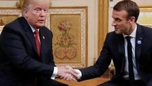 ترامپ و مکرون درباره ایران گفتگو کردند