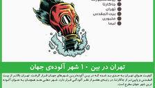 تهران در بین ۱۰ شهر آلودهی جهان
