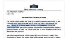 واکنش خیلی ظریف به بیانیه کاخ سفید