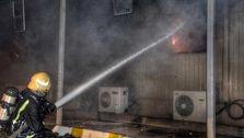 آتش سوزی مجدد جده عربستان که منجربه غرق شدن قطار سریع السیر در آتش شد+عکس